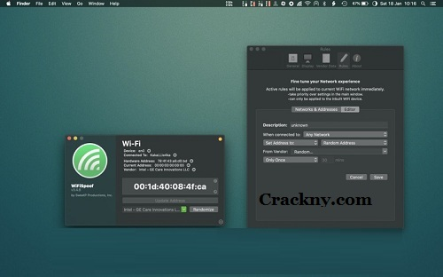 WiFiSpoof Crack 3.5.9 For MAC + Serial Key Free Download