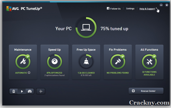 AVG PC TuneUp Crack 21.2.2916 + Product Key Download 2022